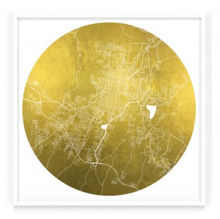 Mappa Mundi Santa Ana - White UV treated ink on 24 carat gold leaf dibond